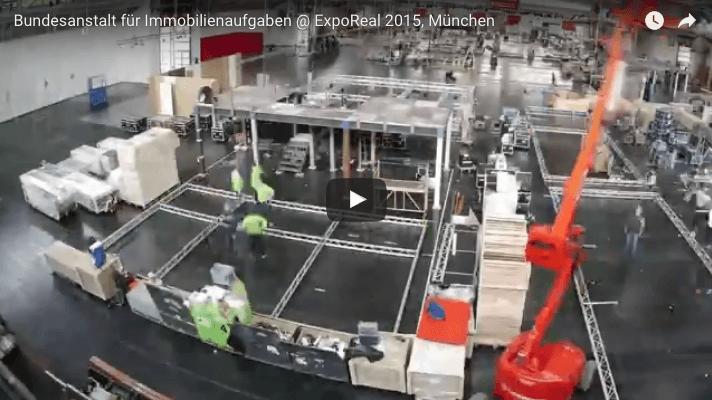 Video i.xpo Zeitraffer Bundesanstalt für Immobilienaufaben ExpoReal 2015 München