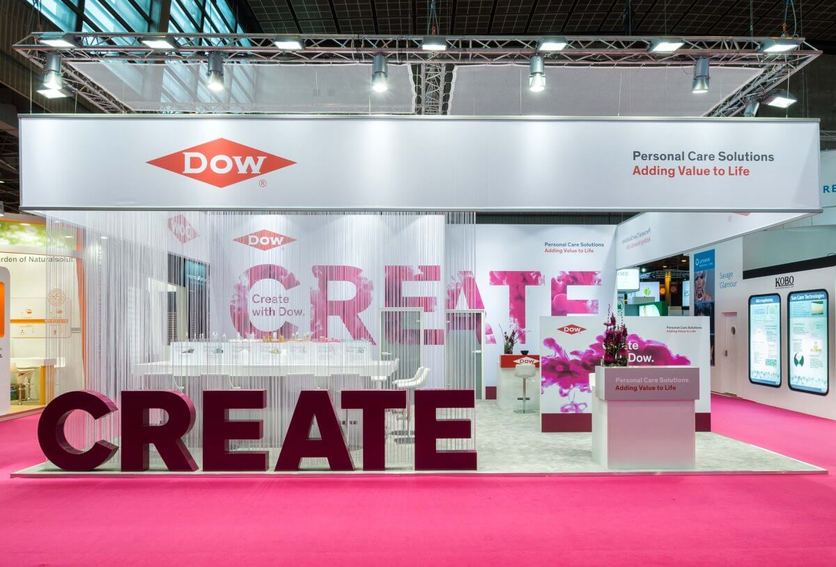 Cosmetic Exhibition Stand Design : Exhibition stand dow in cosmetics i xpo design