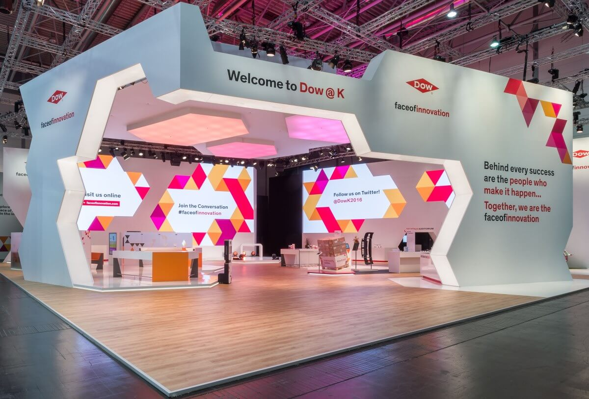 International Exhibition Stand Design : Exhibition stand dow chemical k i xpo design