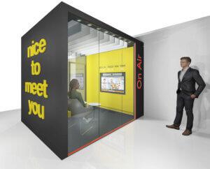 Videokonferenzloesungen Innenausbau The BOX