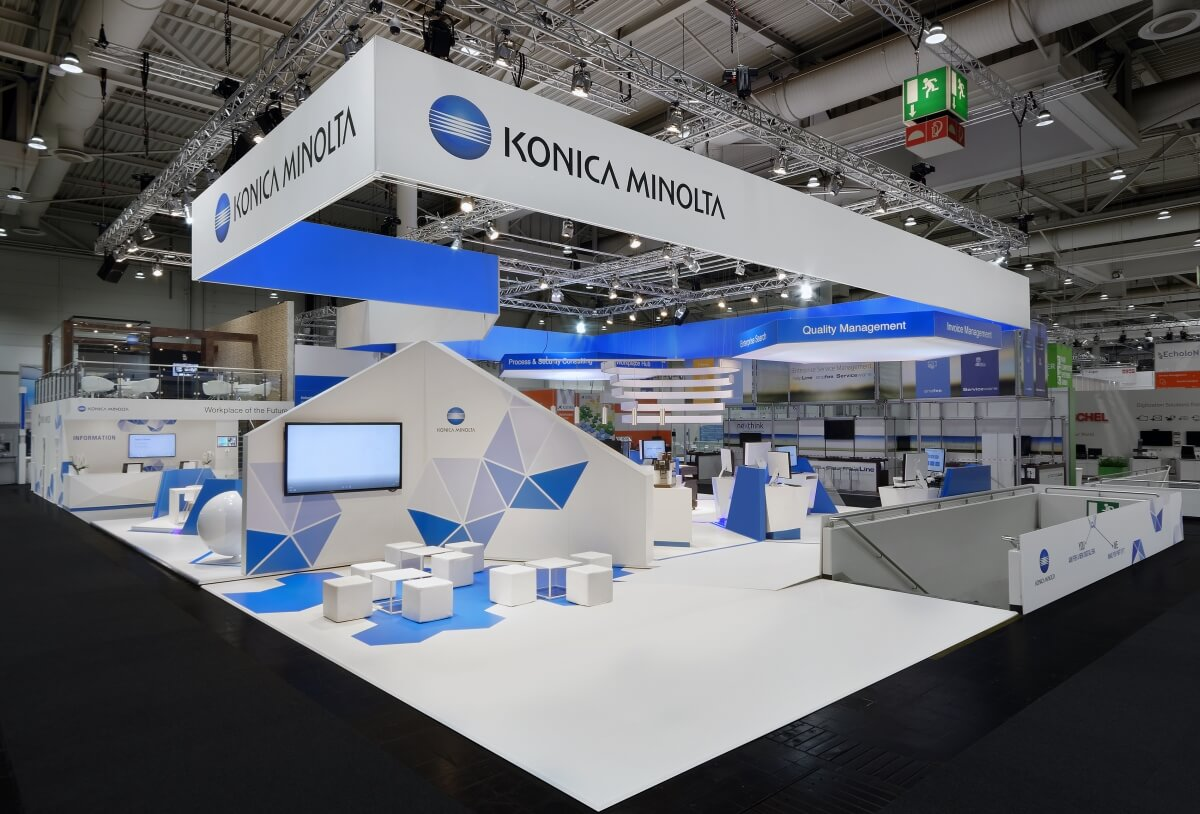 Exhibition stand konica minolta cebit 2017 for Designkombinat hannover