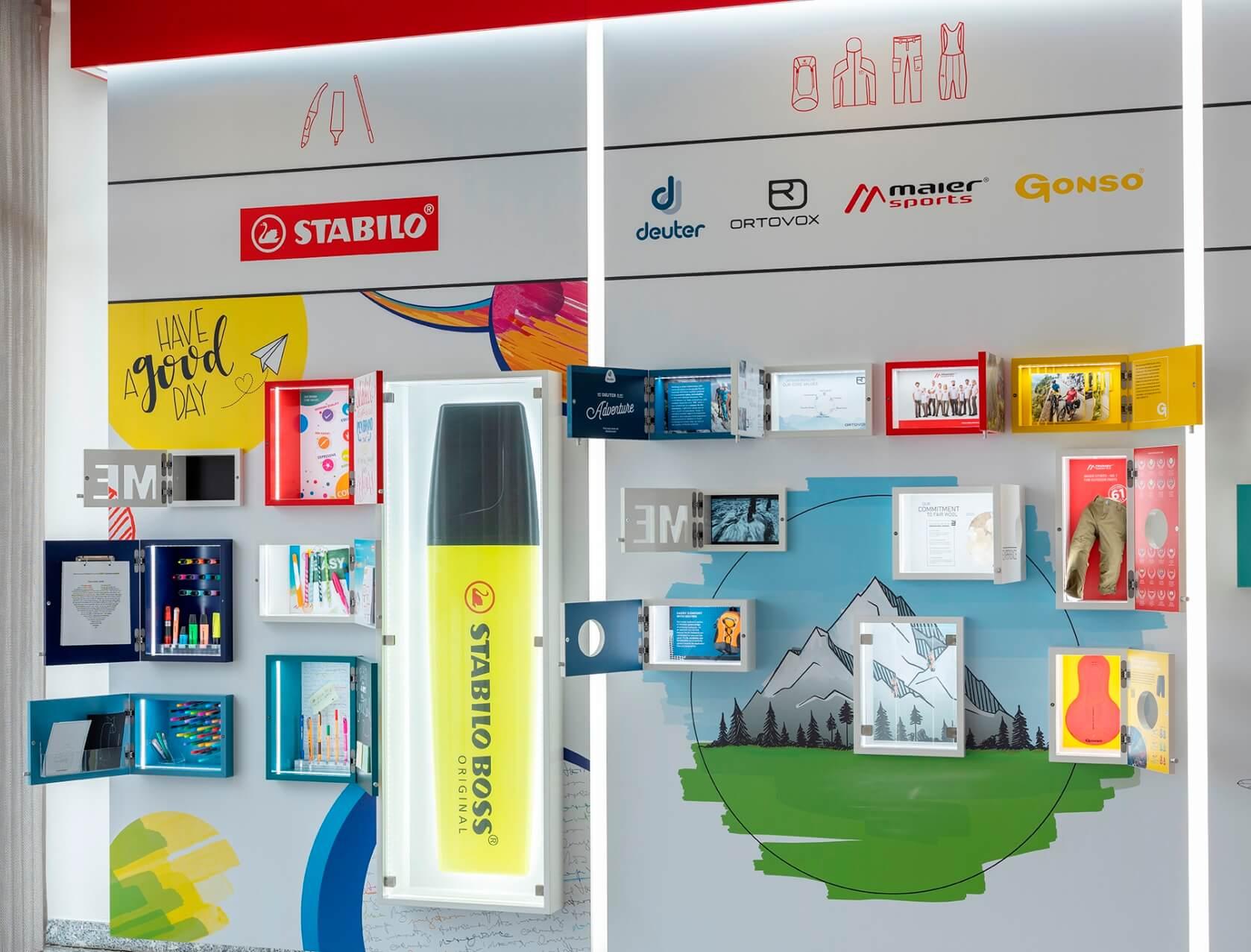Markenwelt von i.xpo Design + Construction | Showroom und Brandland