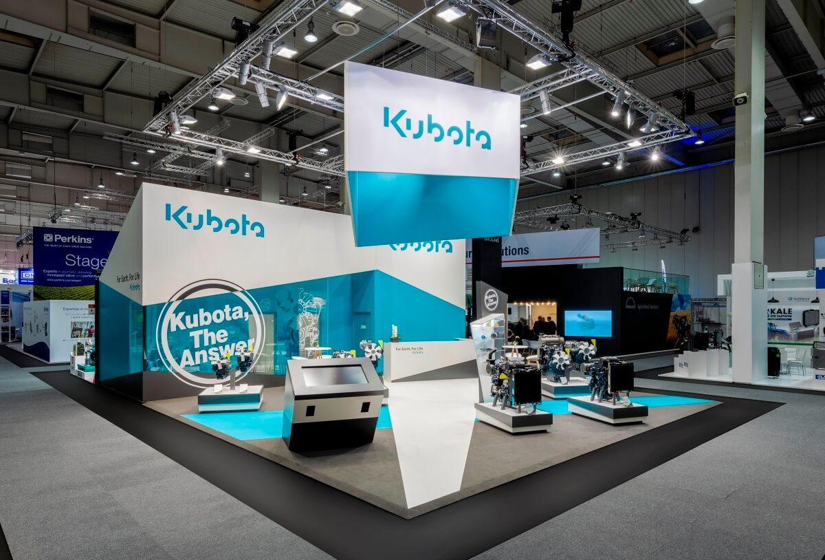 timeless design 79fc9 f40a3 Exhibition stand | Kubota | Agritechnica 2017 | i.xpo Design ...