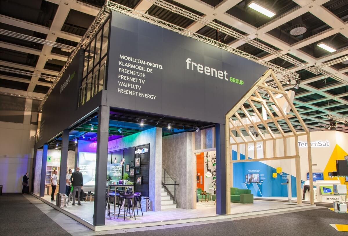 messestand freenet ag ifa 2017 design construction. Black Bedroom Furniture Sets. Home Design Ideas