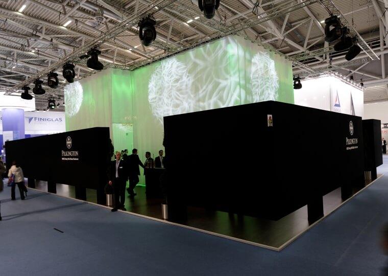 exhibition stand pilkington bau 2009 design. Black Bedroom Furniture Sets. Home Design Ideas