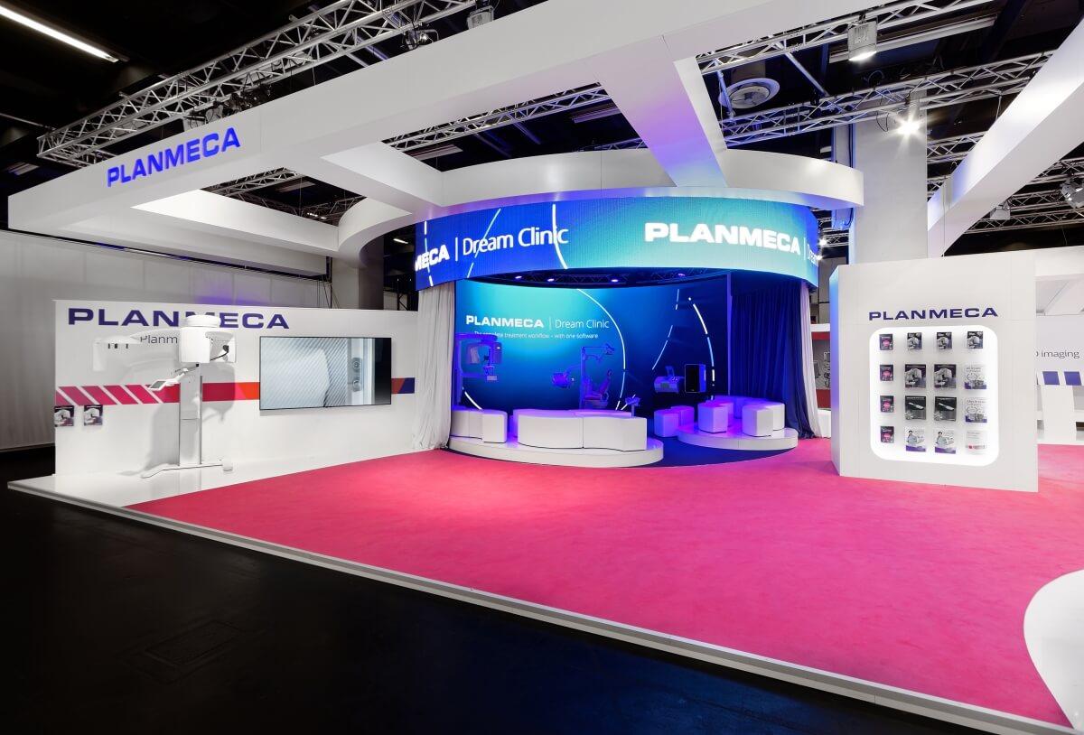 Expo Stands Trade Fair 2017 : Exhibition stand planmeca ids i xpo design