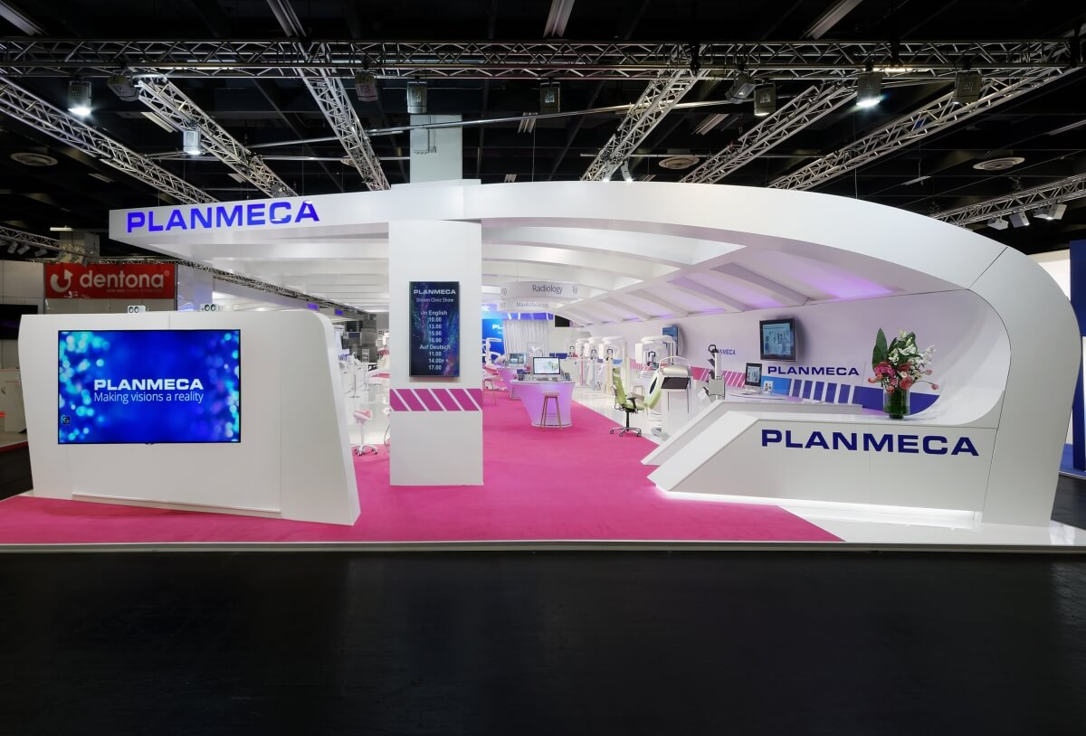 Exhibition Stall Accessories : Exhibition stand planmeca ids i xpo design