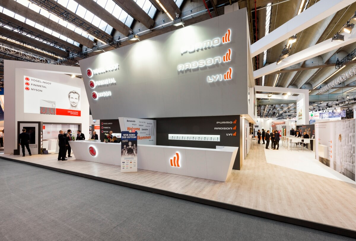 Expo Stands Trade Fair 2017 : Exhibition stand purmo ish i xpo design