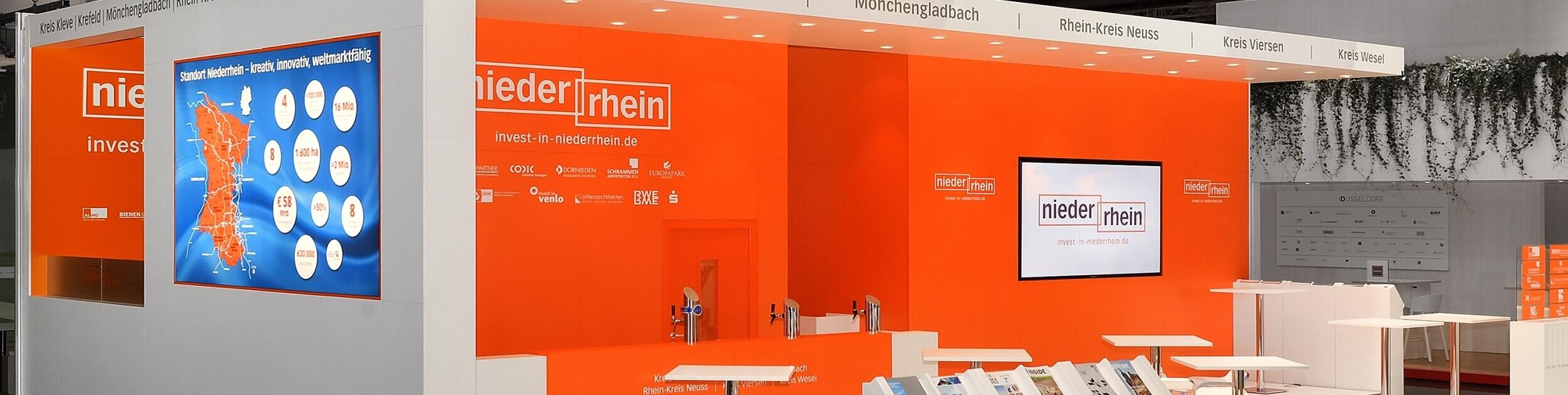Messestand_Standort_Niederrhein_ExpoReal_Muenchen_ixpo_Messebau