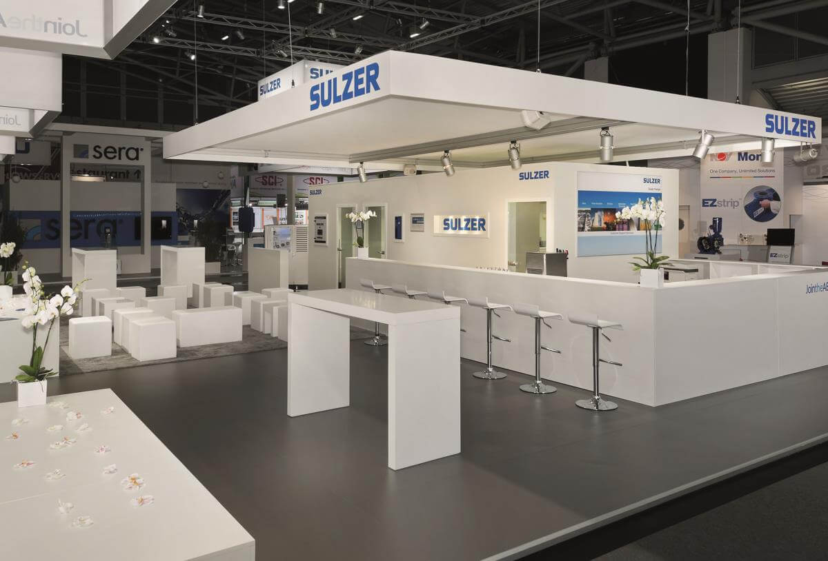 Exhibition Stand Construction : Exhibition stand sulzer ifat i xpo design
