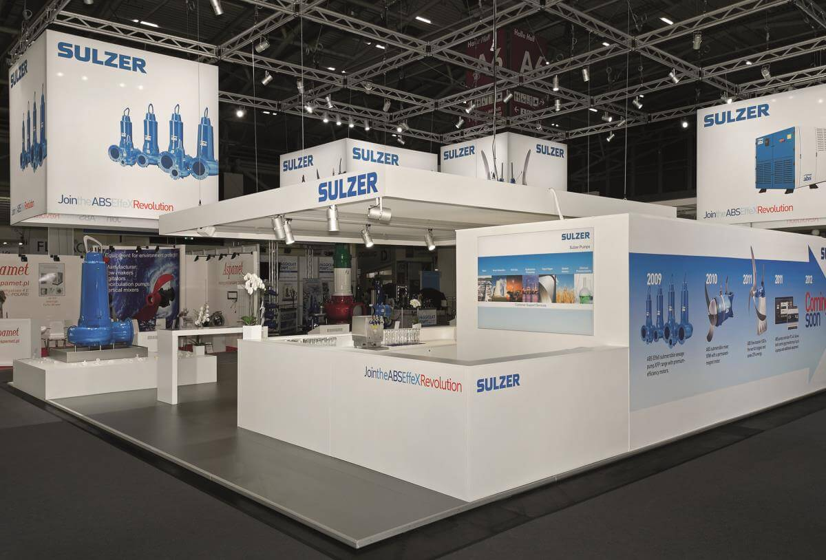 Exhibition Stand Builders In Munich : Exhibition stand sulzer ifat i xpo design