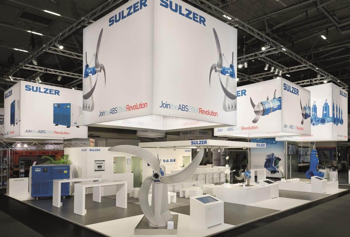 Island Exhibition Stand : Exhibition stand sulzer ifat i xpo design