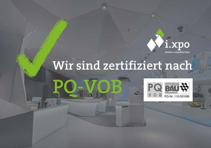 i.xpo ist präqualifiziert nach PQ-VOB