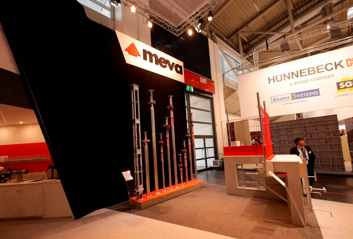 Trade Stands Hickstead : Trade fair stand meva bauma i xpo design